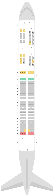 Mapa de asientos Boeing 757-200 (752) v2 United