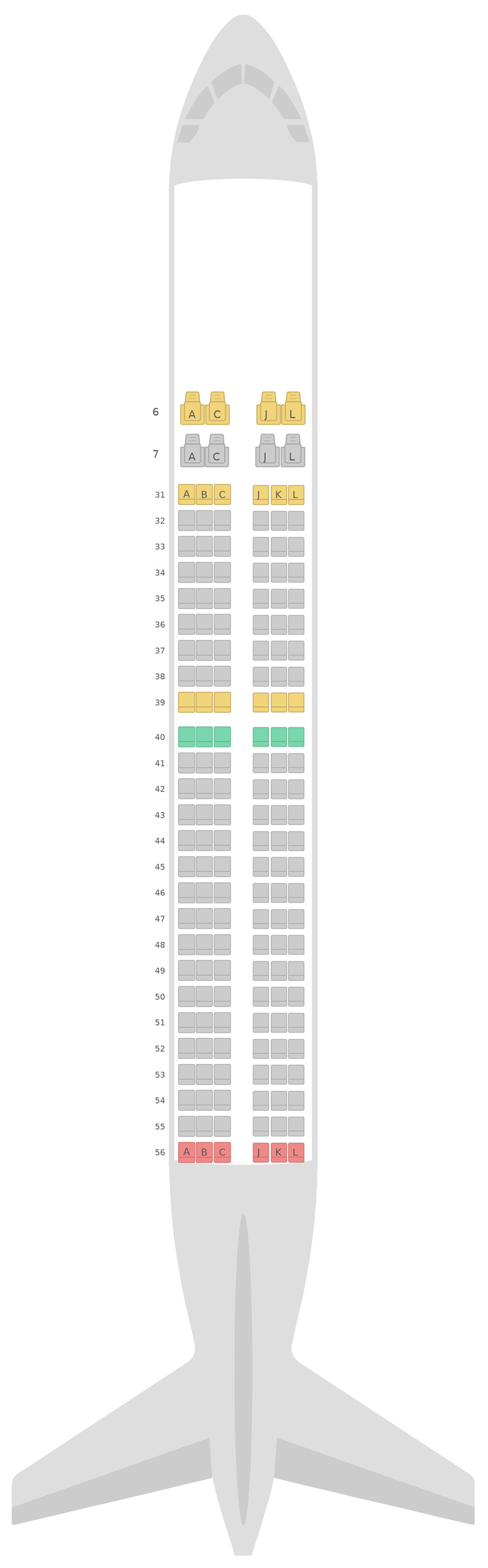 Seat Map China Eastern Airlines Boeing 737-800 (738) v1