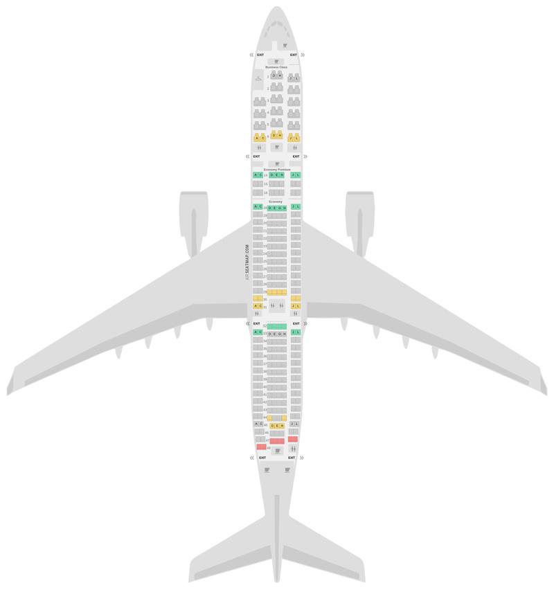 Mapa de asientos Airbus A340-300 (343) Air France