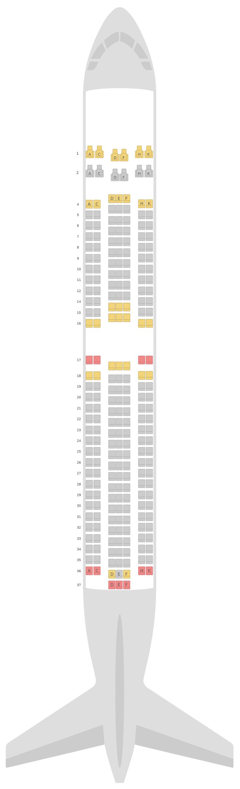 Sitzplan Boeing 767-300ER v2 Royal Air Maroc
