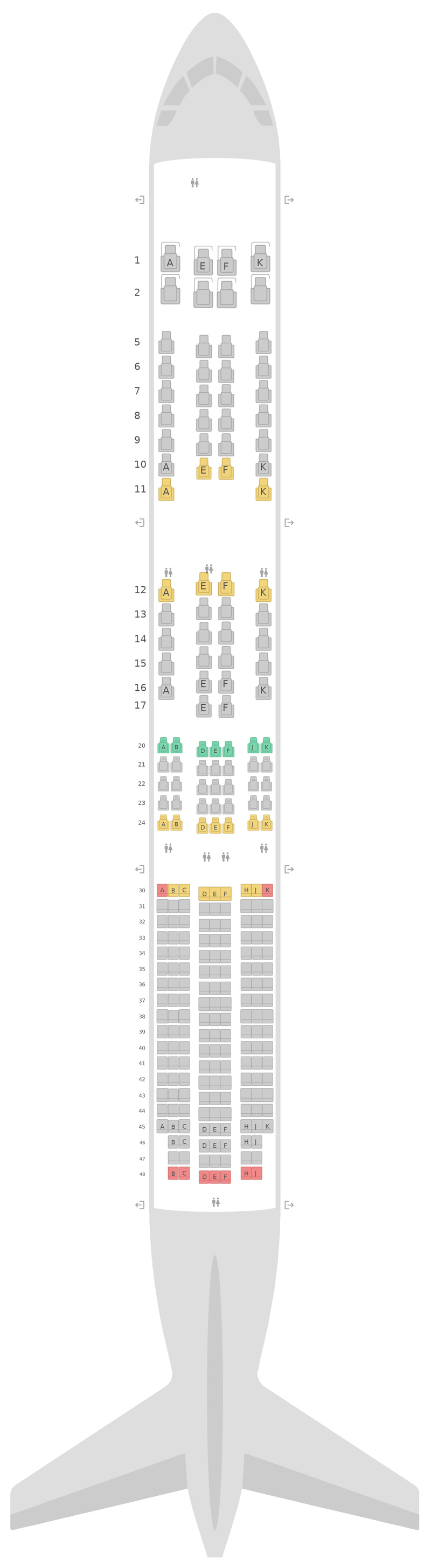 Seat Map British Airways Boeing 787-10