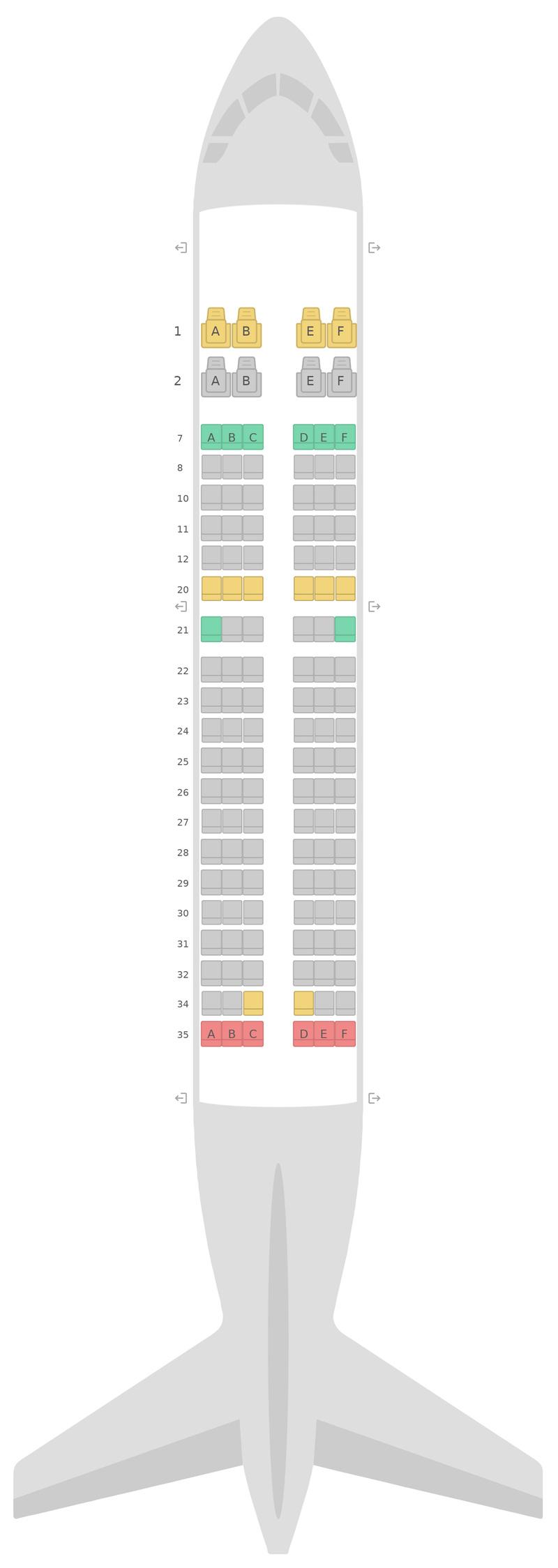 Mapa de asientos Airbus A319 v1 United