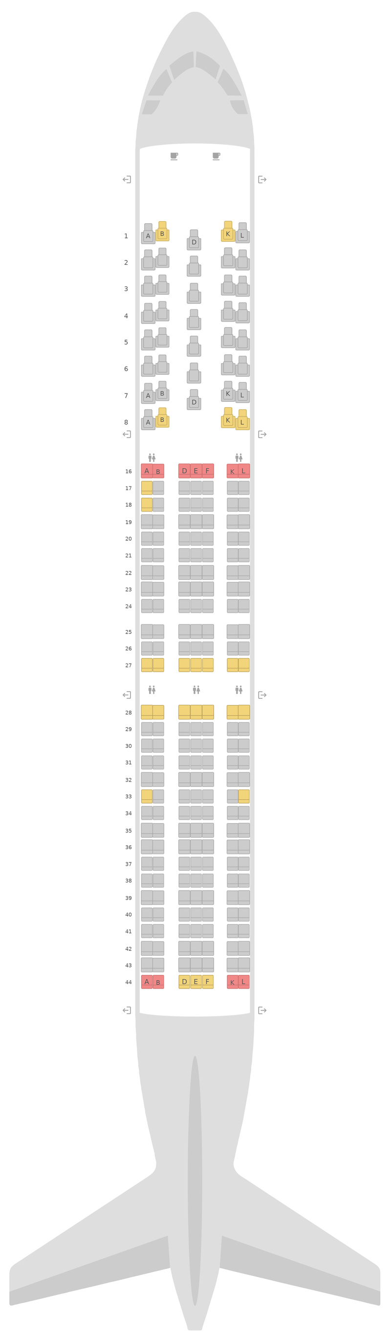 Seat Map United Boeing 767-400ER