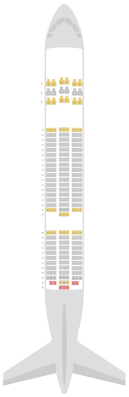 Seat Map Royal Air Maroc Boeing 787-8 (788)