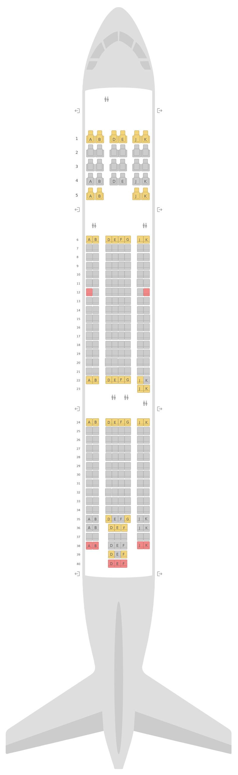 Sitzplan Airbus A330-300 (333) Turkish Airlines