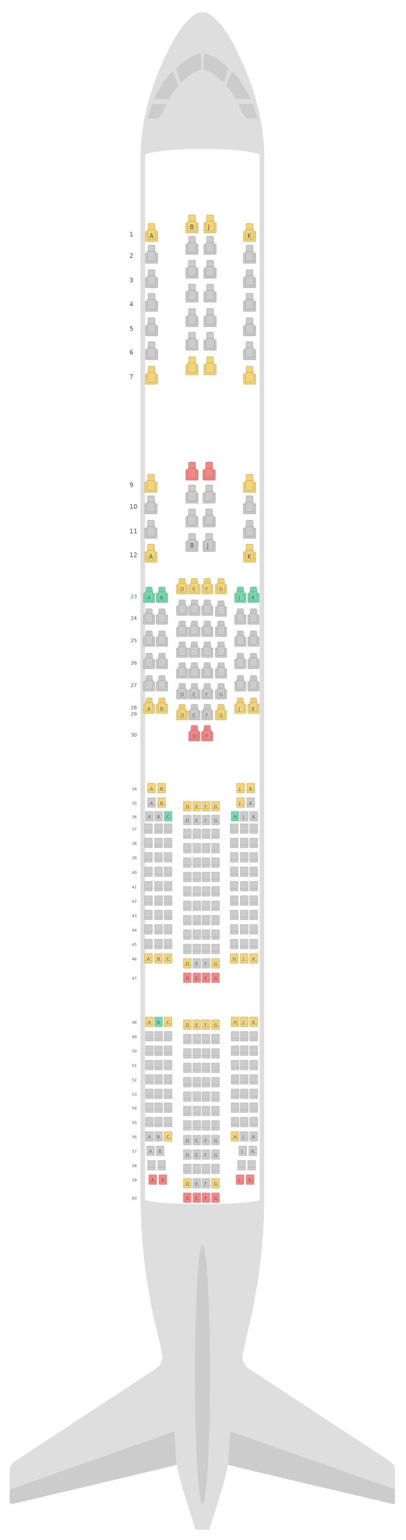 Sitzplan Boeing 777-300 (773) Air New Zealand