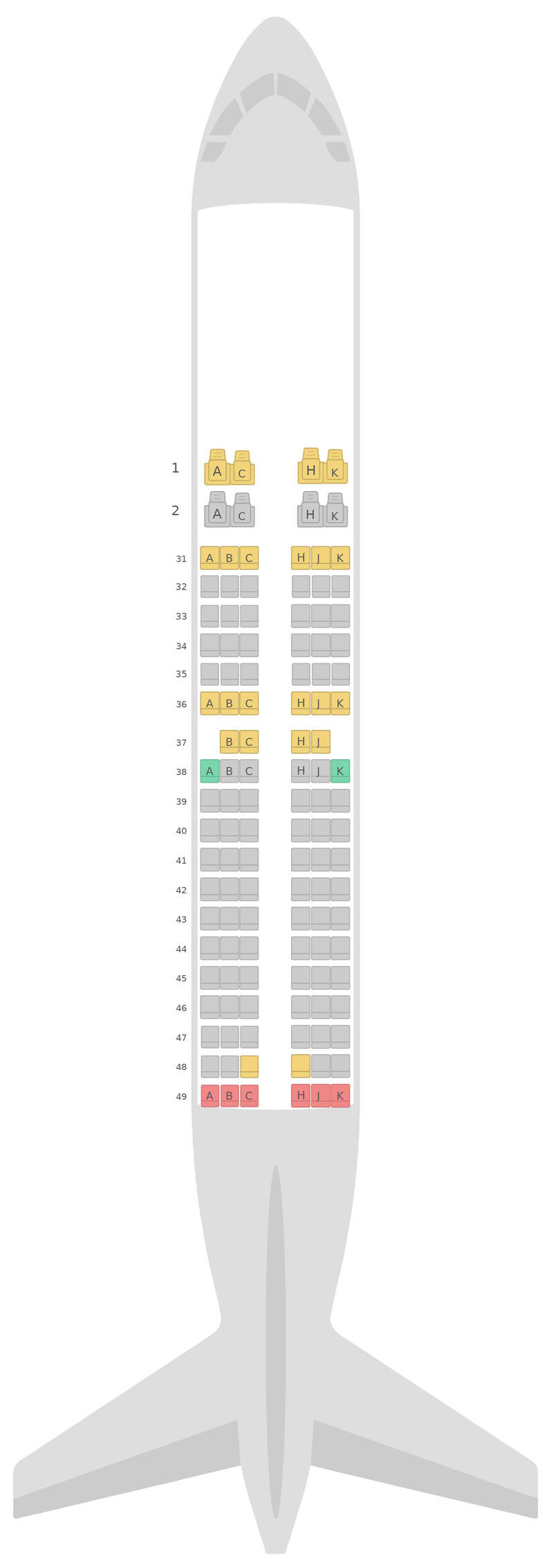 Seat Map China Southern Airlines Boeing 737-700 v1