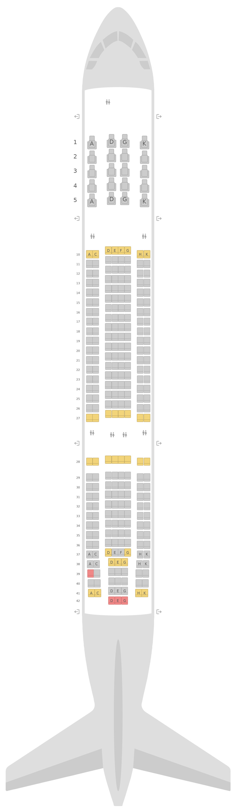 Sitzplan Airbus A330-200 (332) Virgin Australia
