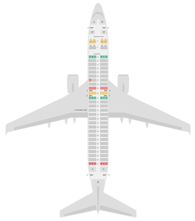 Mapa de asientos Boeing 737 MAX (7M8) Garuda Indonesia