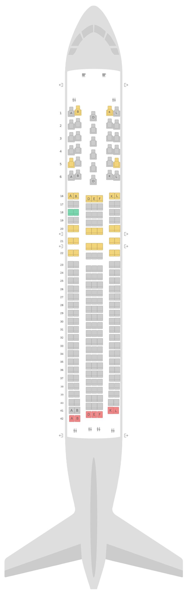Seat Map United Boeing 767-300ER v1