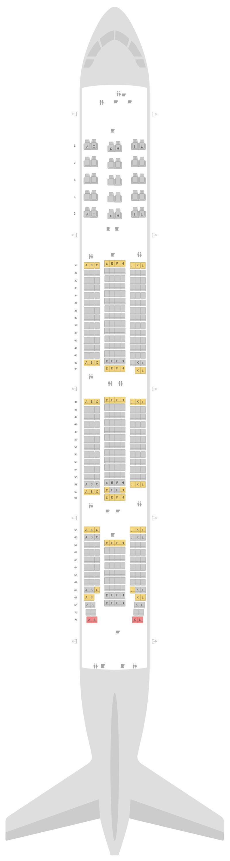 Mapa de asientos Boeing 777-300ER (77W) v1 Saudi Arabian Airlines