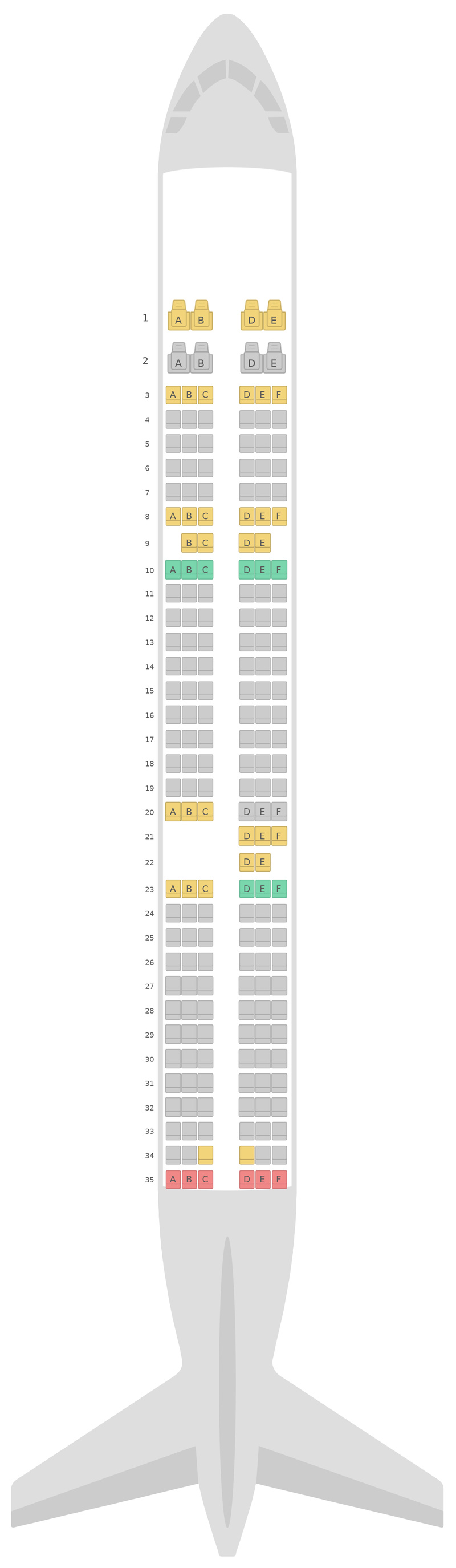 Sitzplan Airbus A321 v2 S7 Airlines