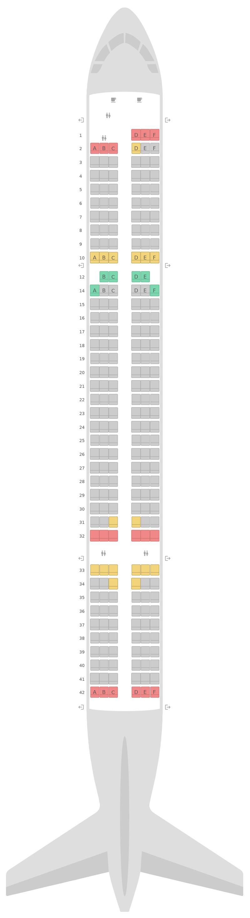 Схема салона Боинг 757-200 (752) Jet2.com