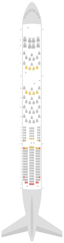 Sitzplan Boeing 787-9 (789) British Airways