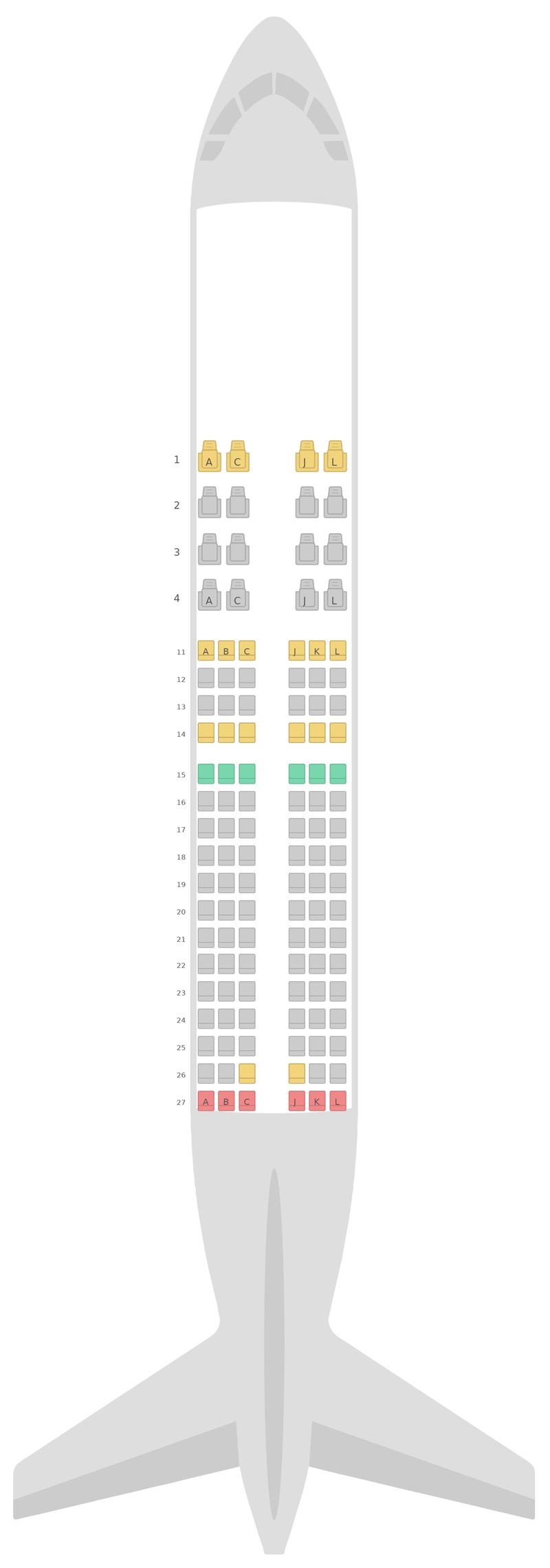 Схема салона Боинг 737-700 Эфиопские авиалинии