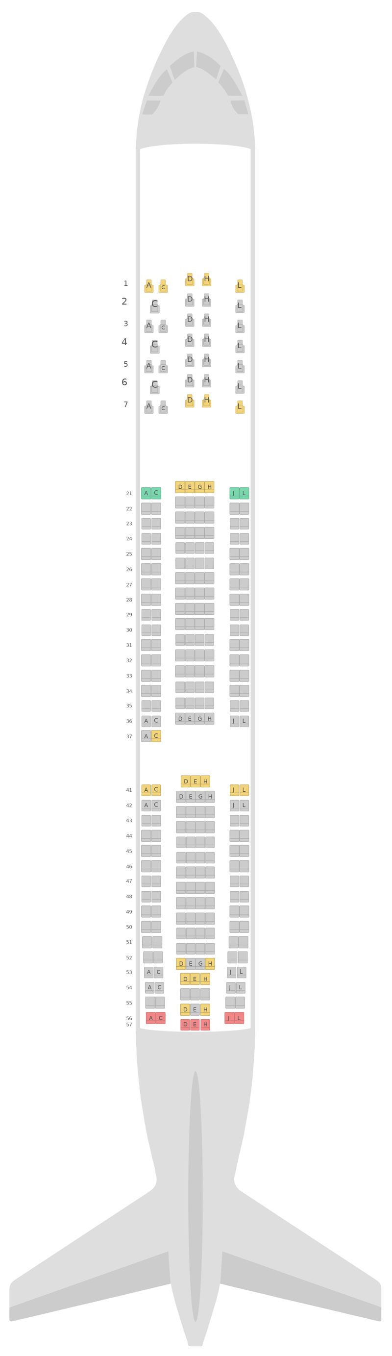 Seat Map Finnair Airbus A330-300 (333) v2