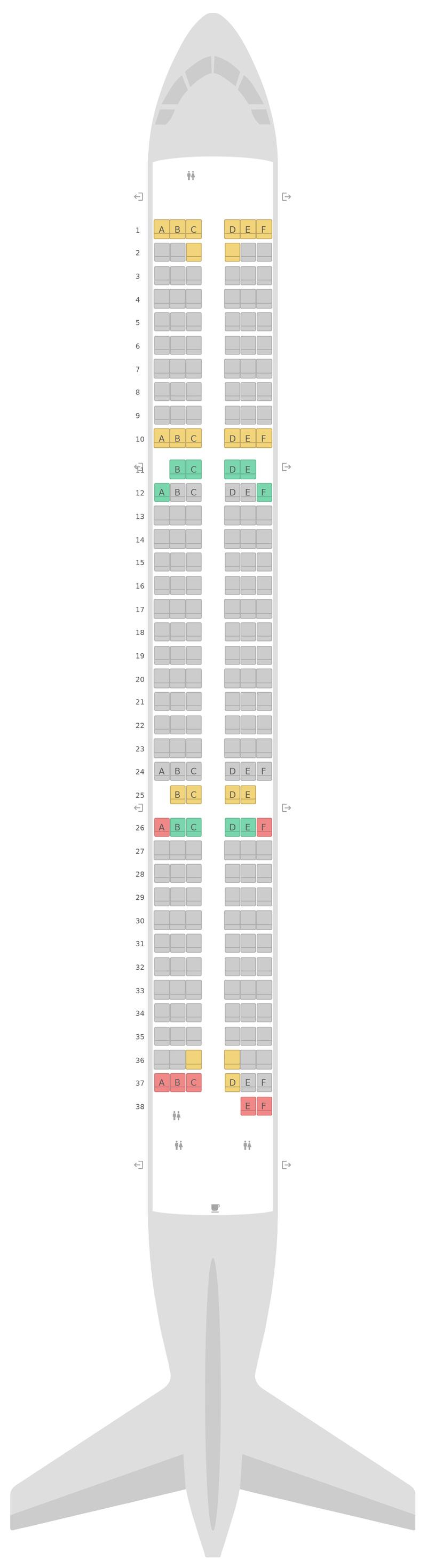Sitzplan Airbus A321 v2 Jet2.com