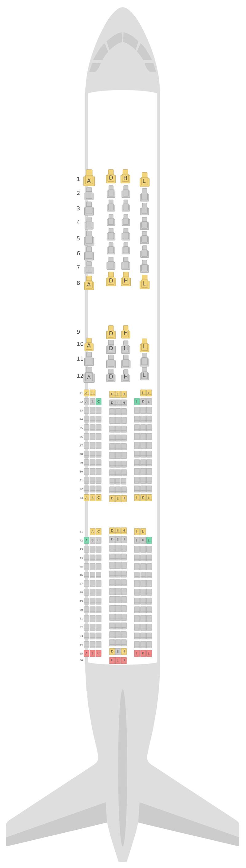 Seat Map Finnair Airbus A350-900 (359) v1