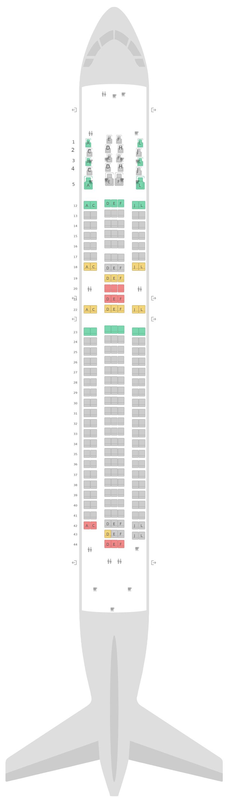 Схема салона Боинг 767-300ER v1 LATAM