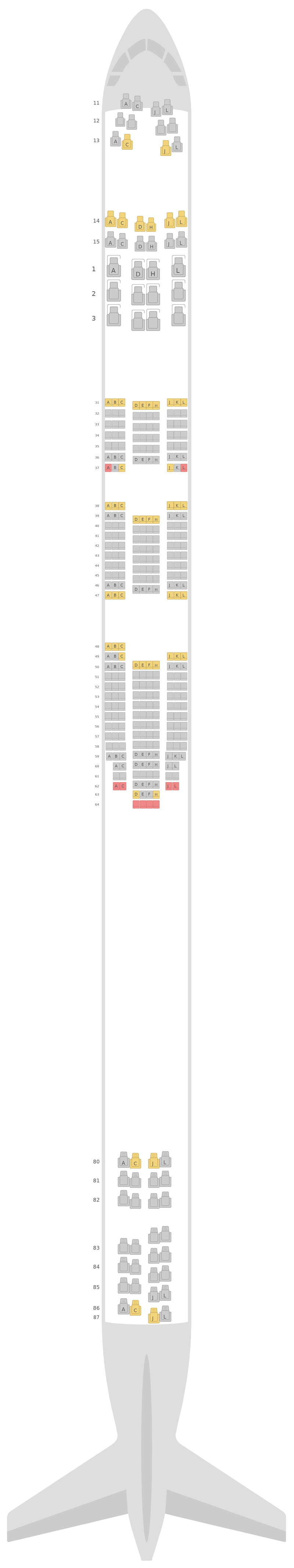 Seat Map Air China Boeing 747-8