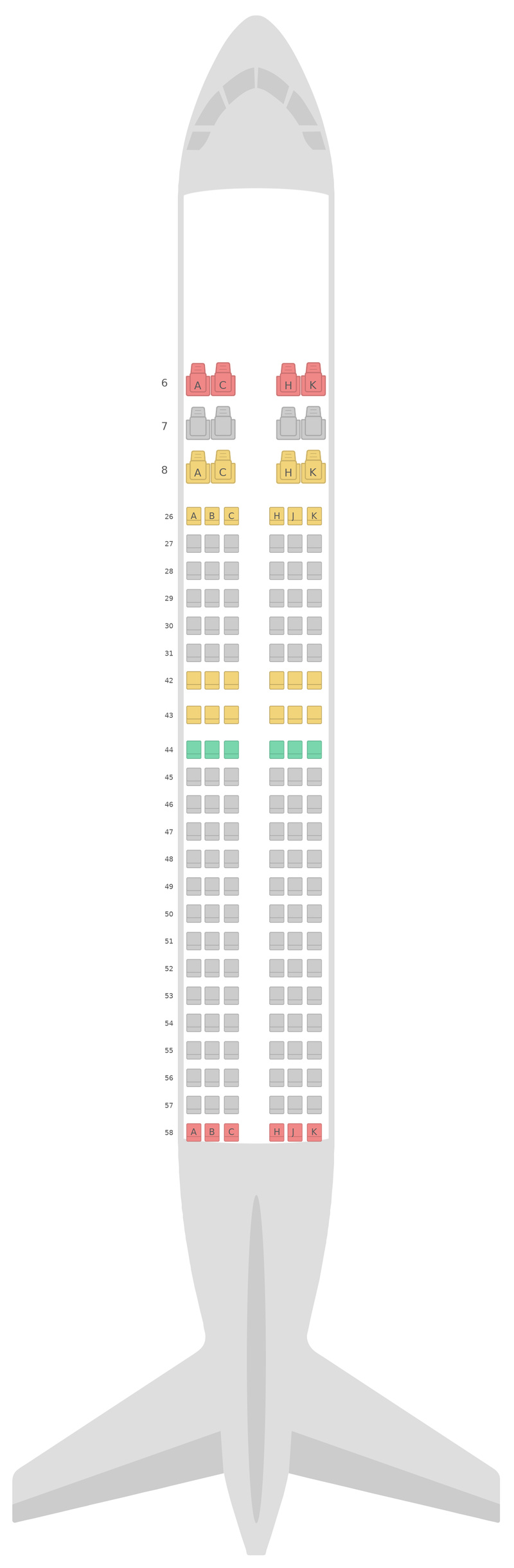 Seat Map Royal Brunei Airlines Airbus A320neo (32N)