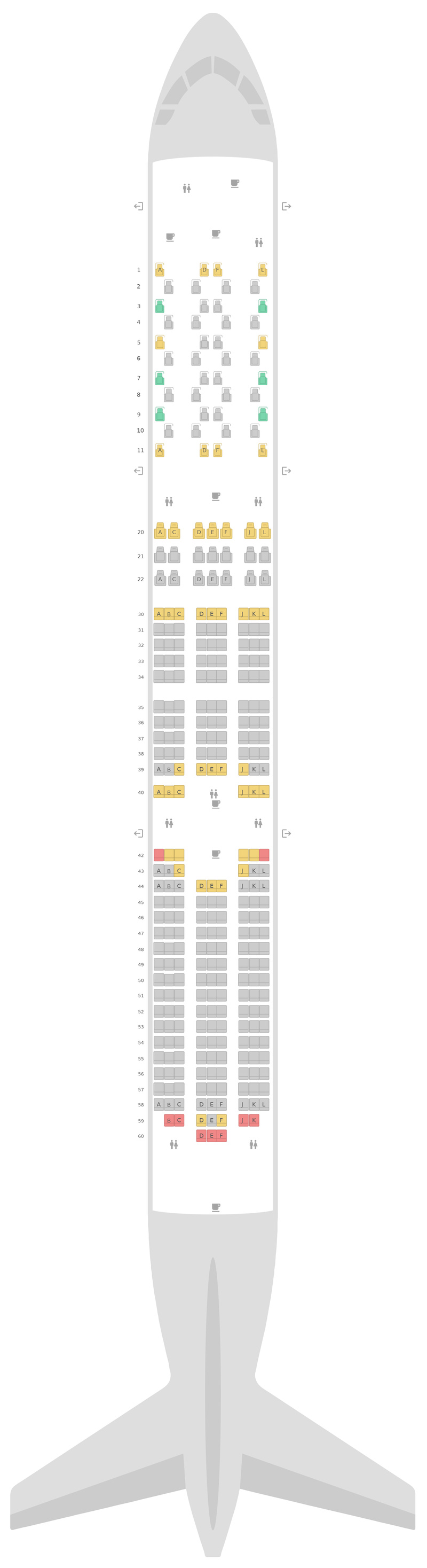 Seat Map United Boeing 787-10