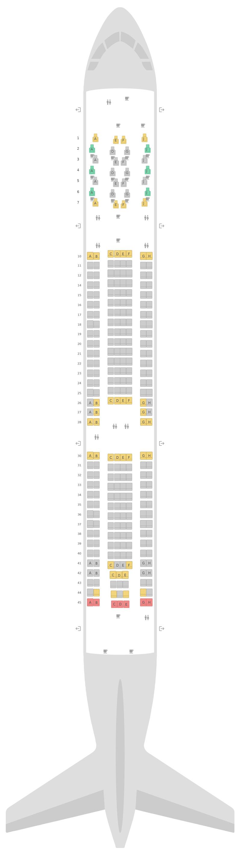 Seat Map Air Mauritius Airbus A330-900neo (339)