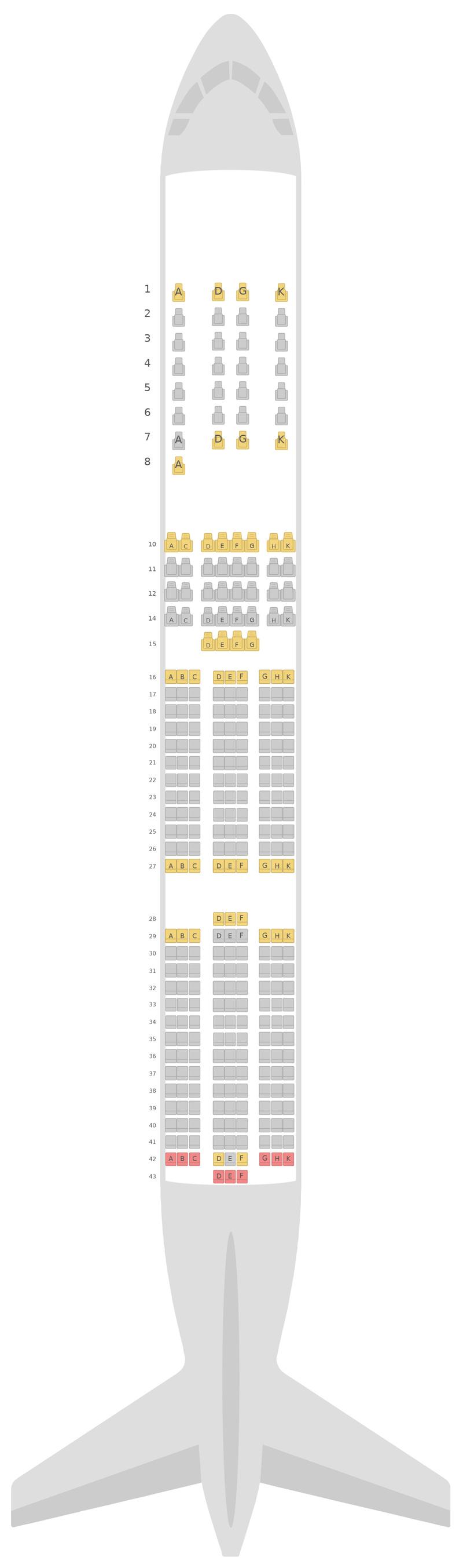 Sitzplan Airbus A350-900 (359) v2 Vietnam Airlines