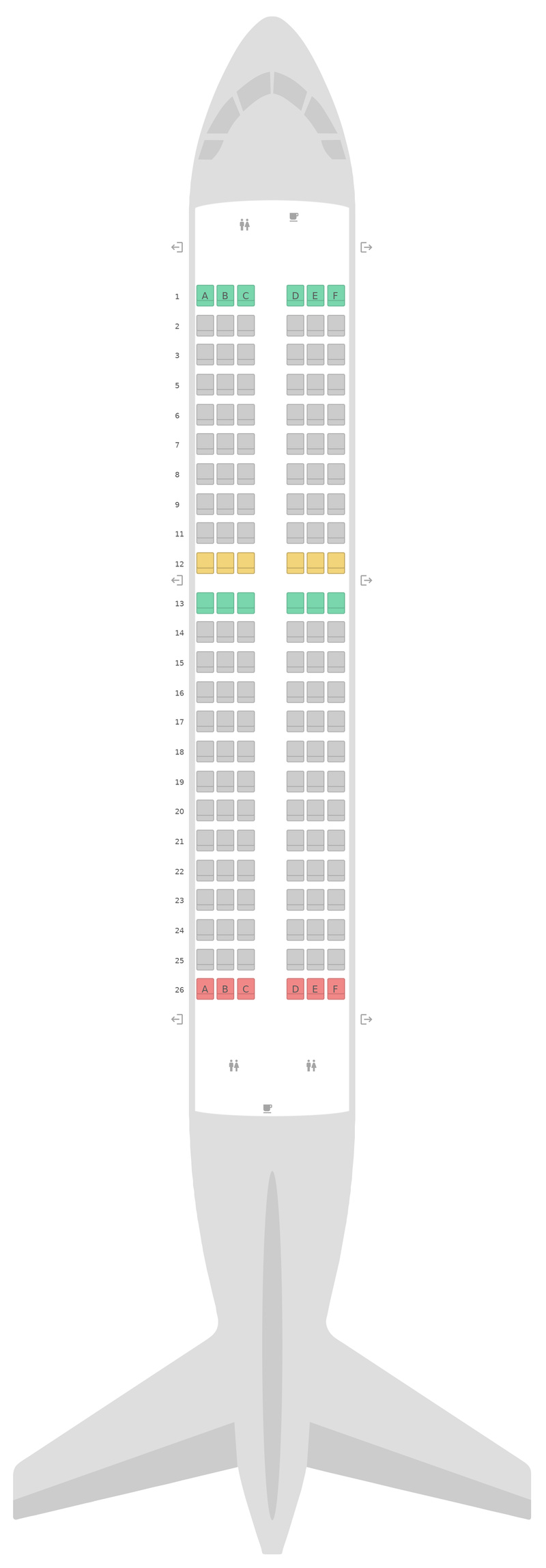 Seat Map Scoot Airbus A319