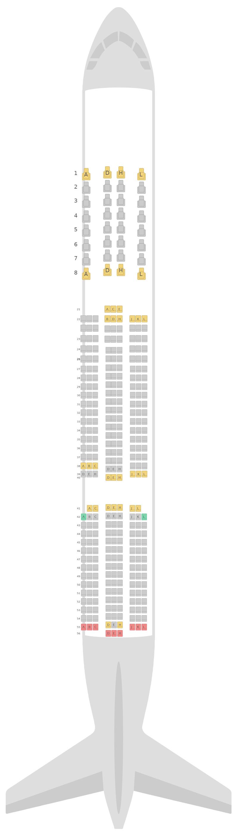 Mapa de asientos Airbus A350-900 (359) v2 Finnair