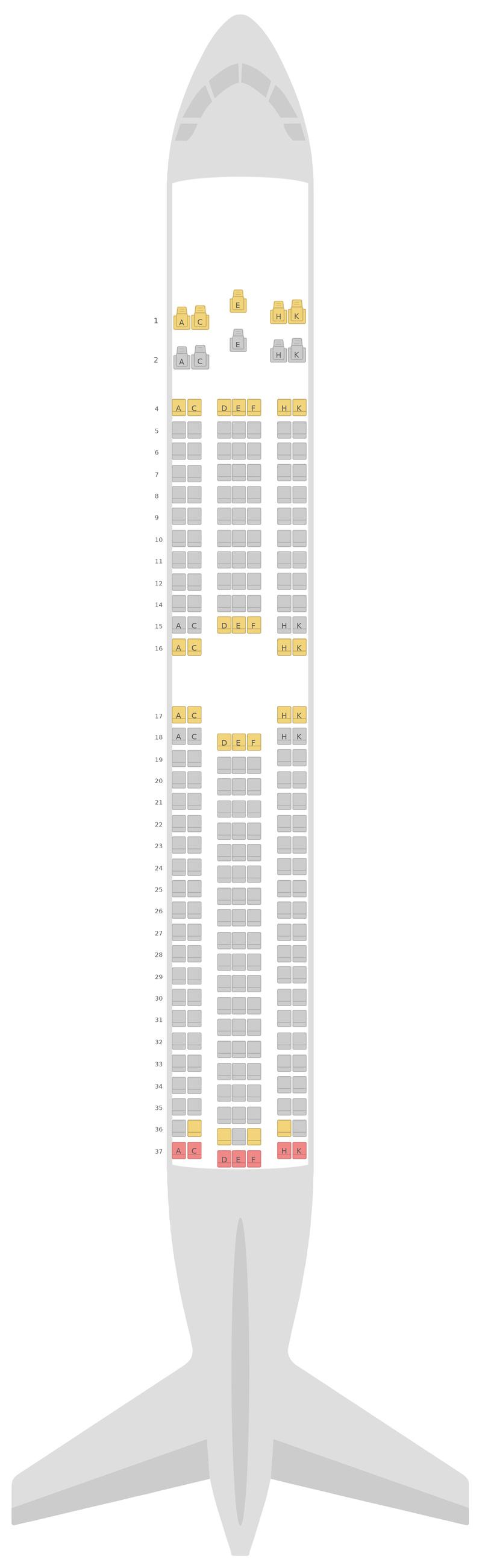 Sitzplan Boeing 767-300ER v1 Royal Air Maroc