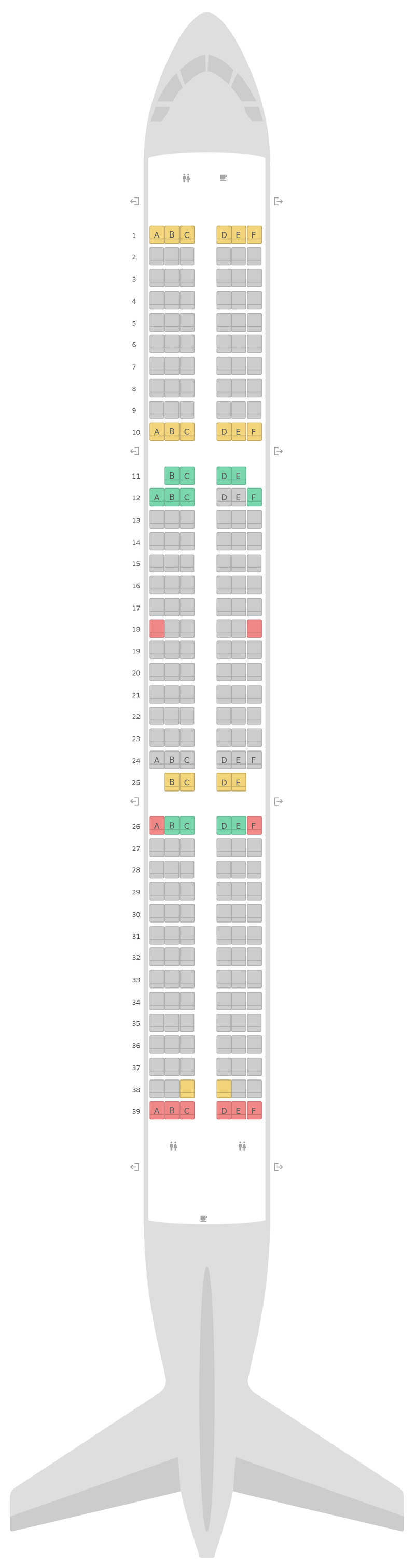 Sitzplan Airbus A321 Wizz Air