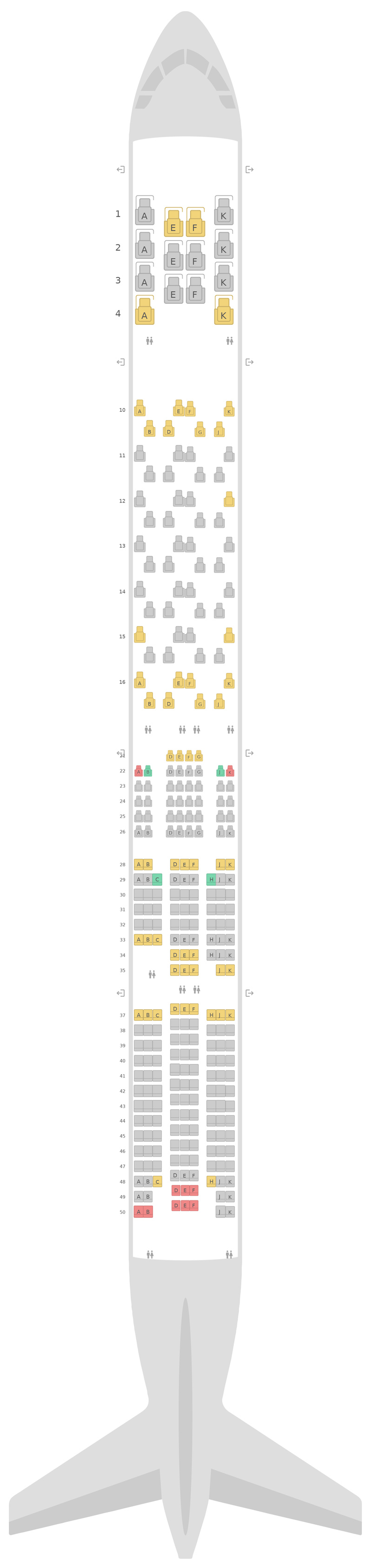 Схема салона Боинг 777-300 (773) Бритиш Эйрвейз