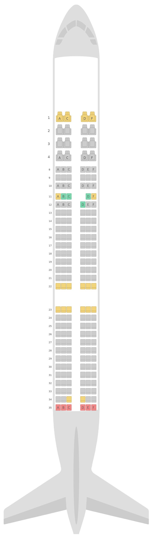 Mapa de asientos Airbus A321 v2 Aeroflot