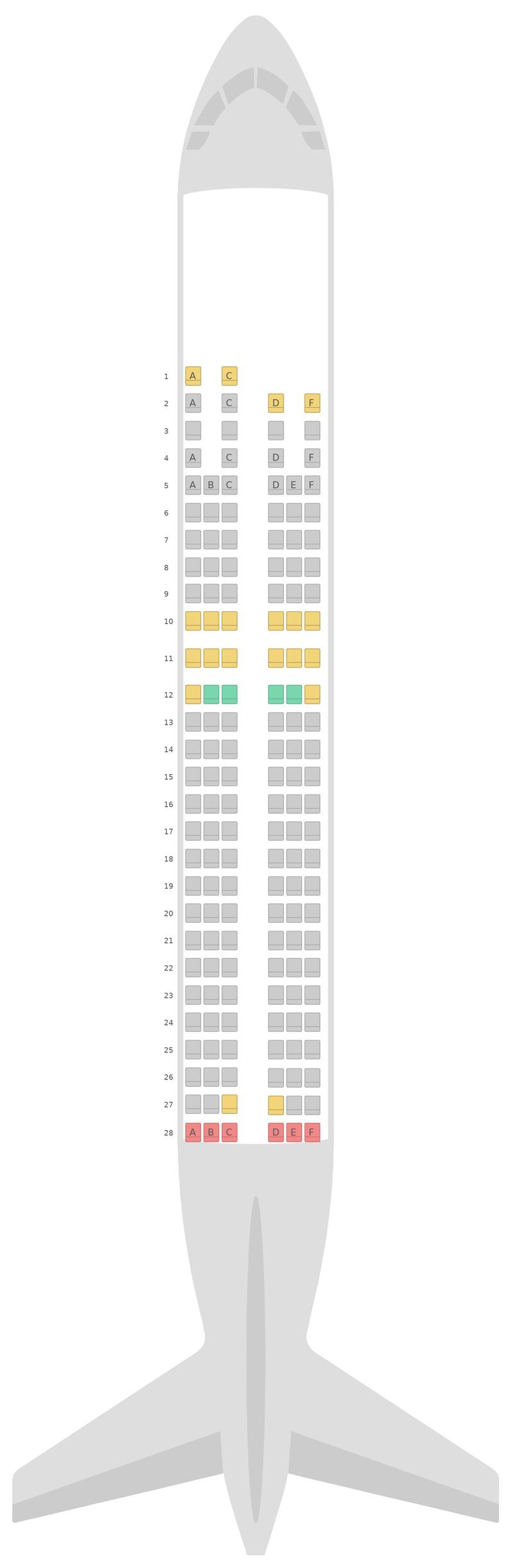 Mapa de asientos Airbus A320 Finnair