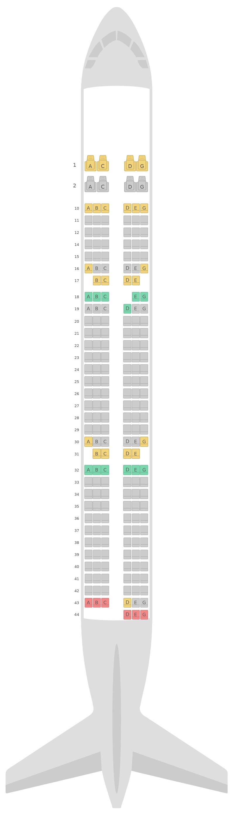 Sitzplan Airbus A321 v3 Vietnam Airlines