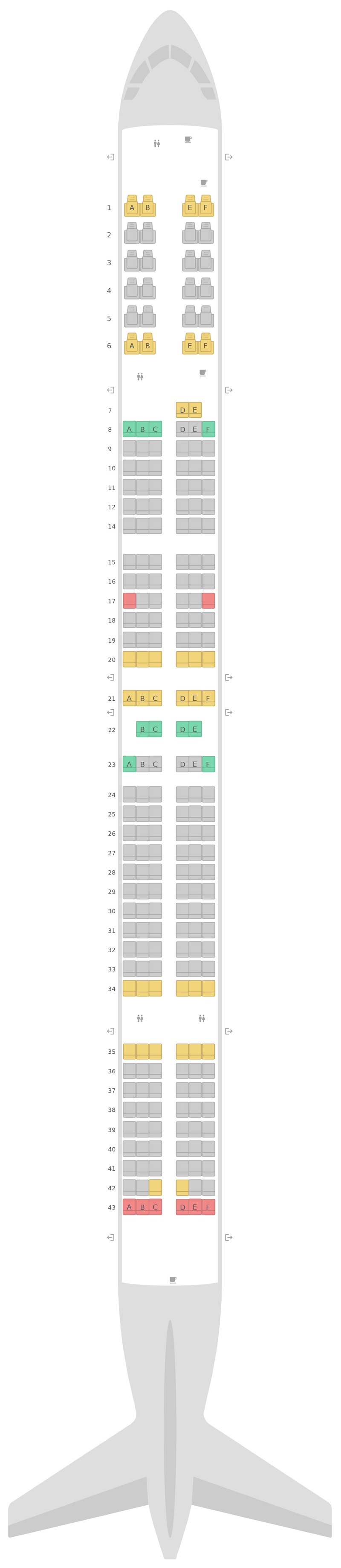 Seat Map United Boeing 757-300