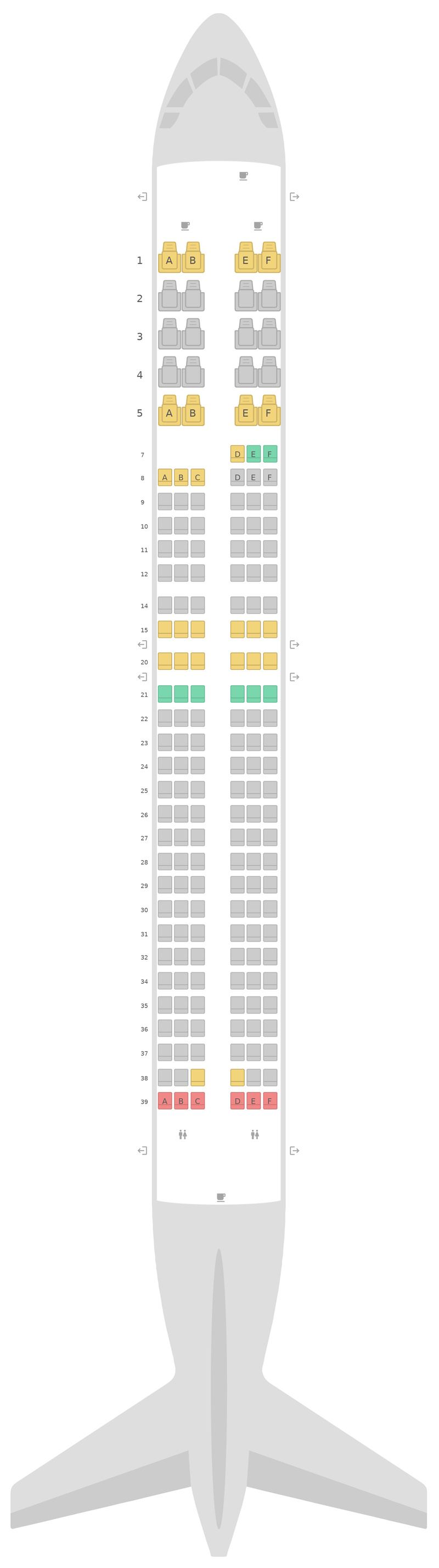 Seat Map United Boeing 737 MAX (7M8)