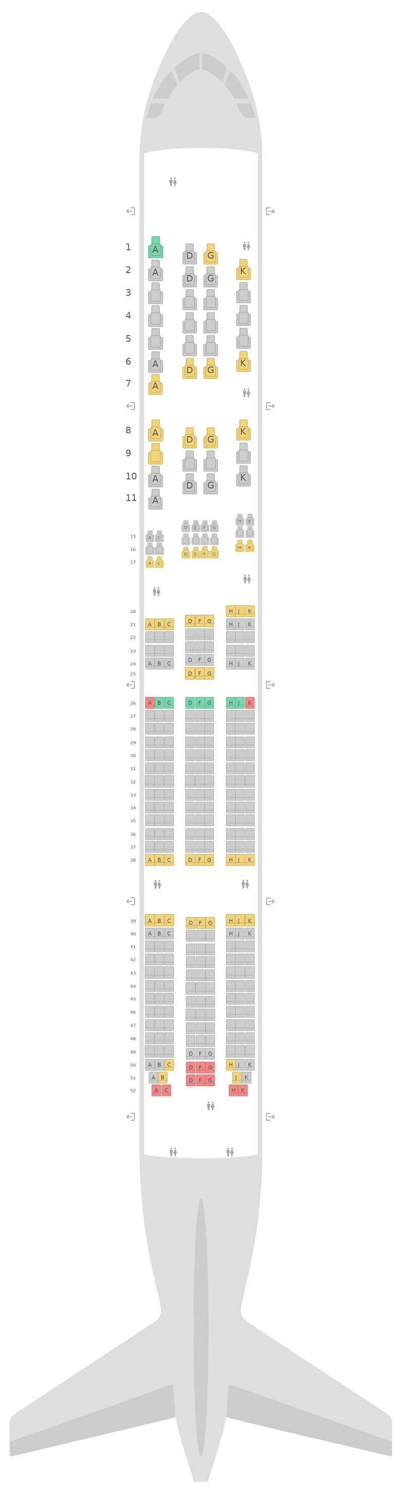 Mapa de asientos Boeing 777-300ER (77W) Virgin Australia