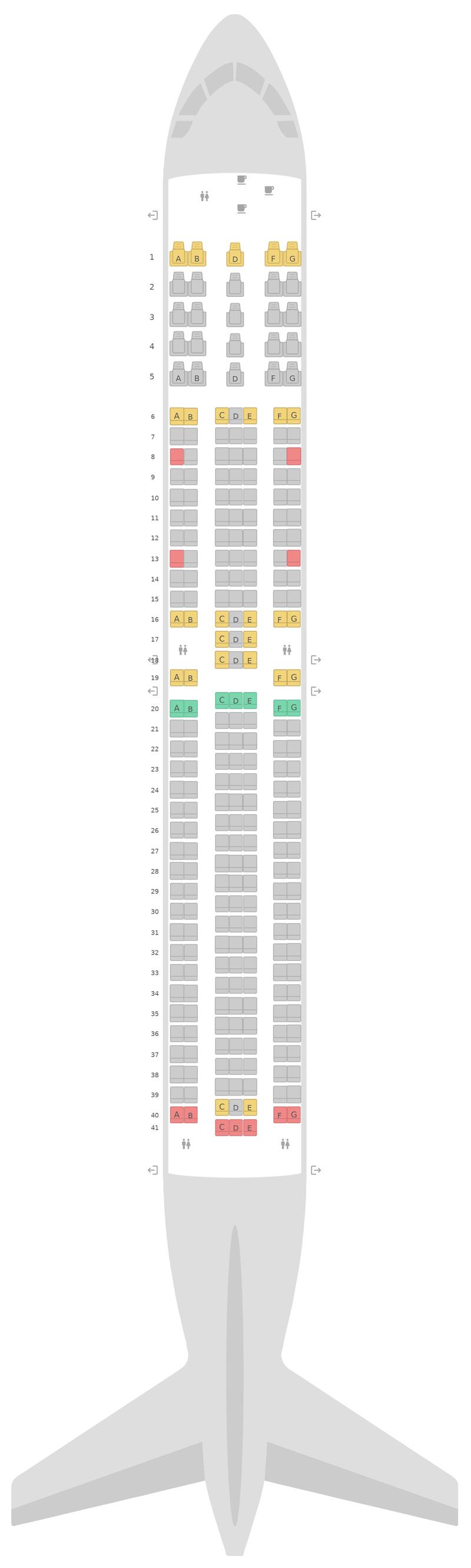 Mapa de asientos Boeing 767-300ER Icelandair