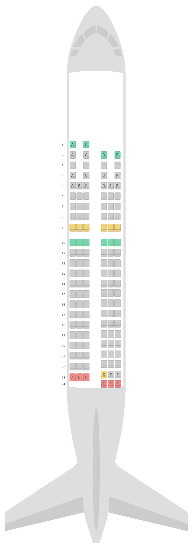 Схема салона Аэробус А319 Финнэйр