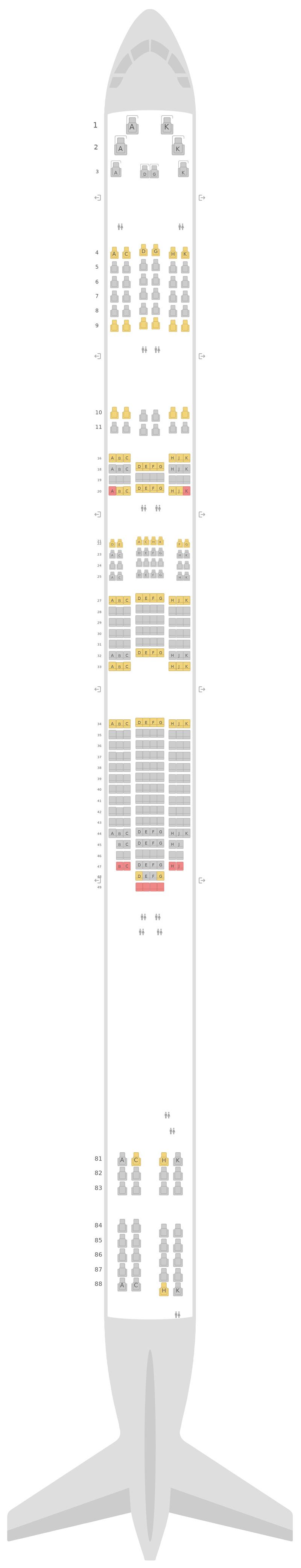 Sitzplan Boeing 747-8 Lufthansa