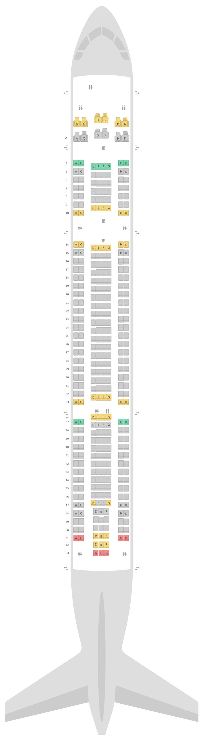 Sitzplan Airbus A330-300 (333) v2 Air Transat