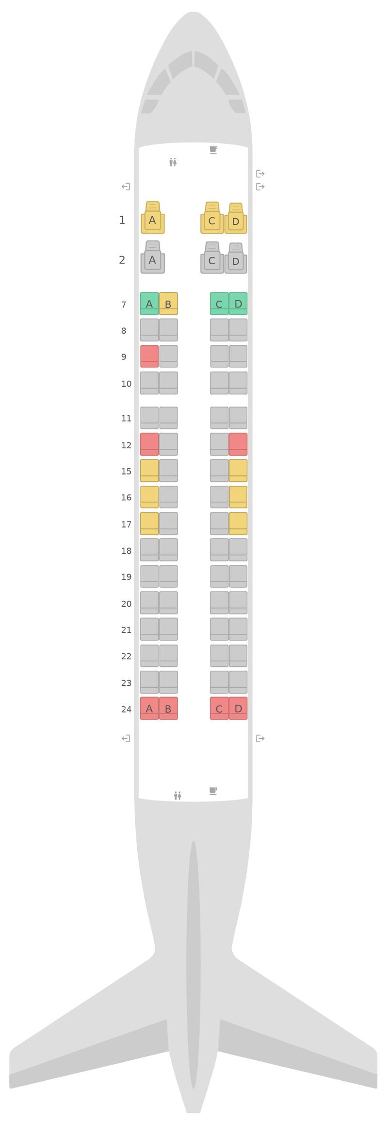 Seat Map United Embraer E170