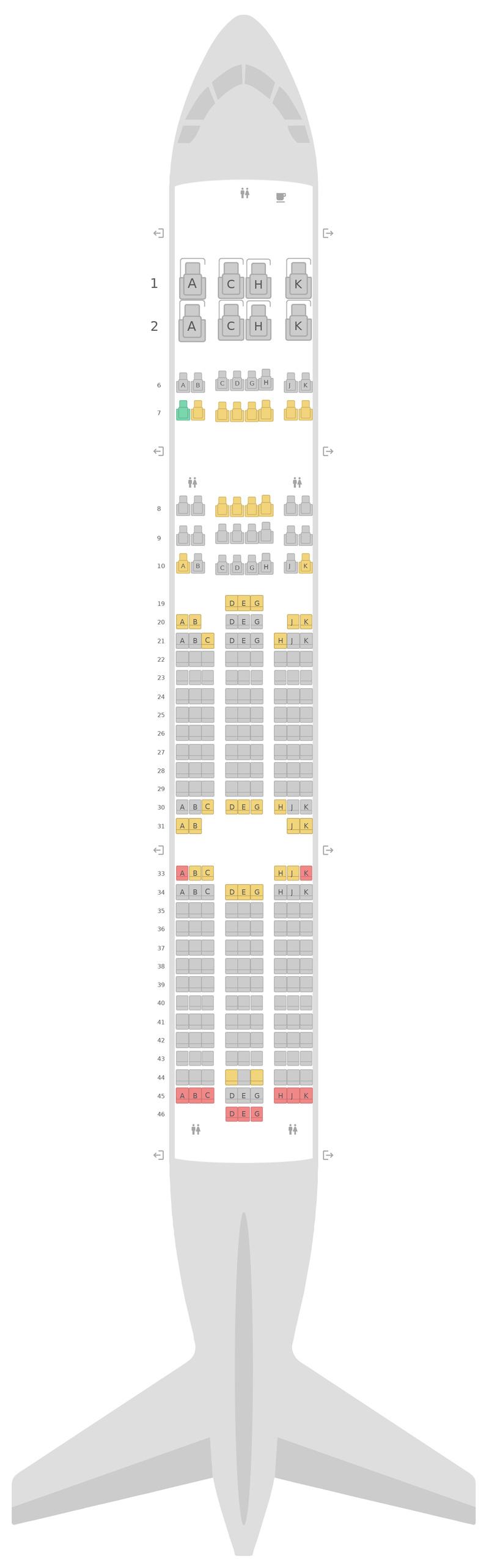 Seat Map United Boeing 777-200 (777) v1