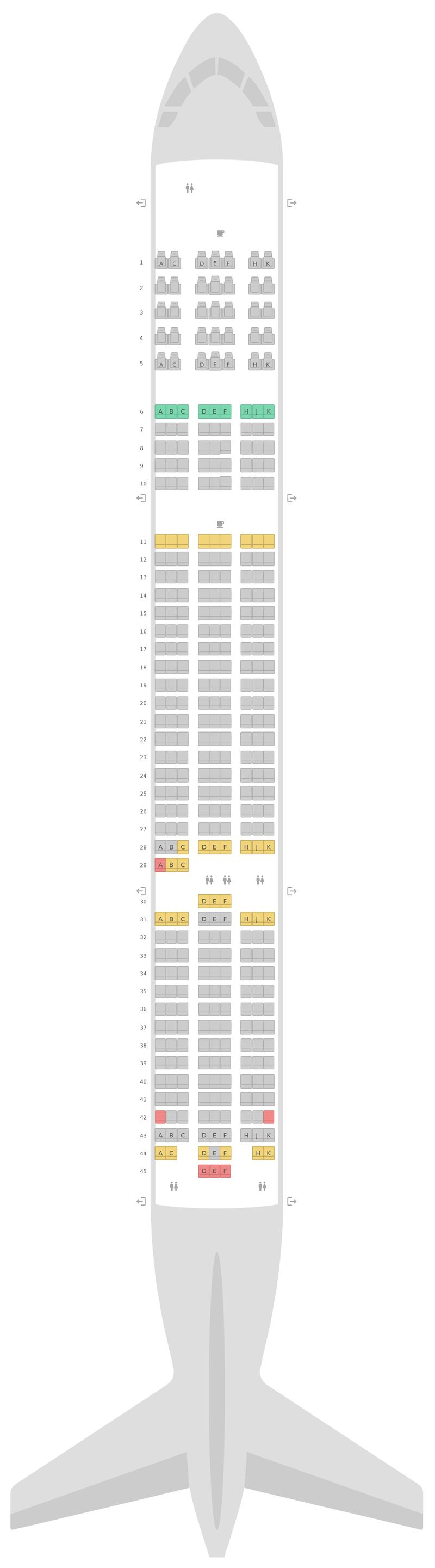 Seat Map Boeing 787-9 (789) Scoot