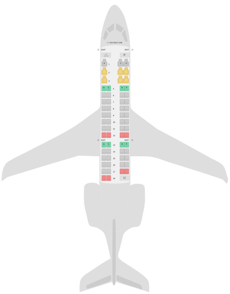 Sitzplan Bombardier CRJ700 (CR7) v1 American Airlines