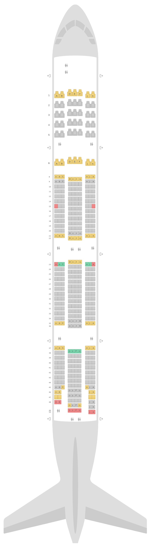 Sitzplan Boeing 777-300ER (77W) 2 Class Emirates