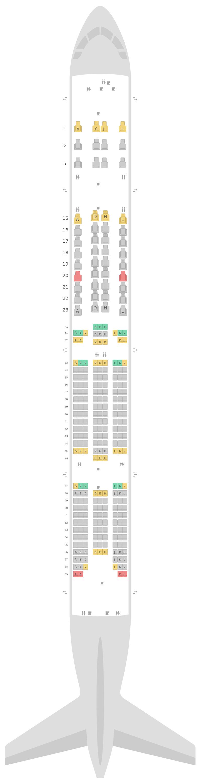 Схема салона Боинг 777-300ER (77W) v4 Saudi Arabian Airlines
