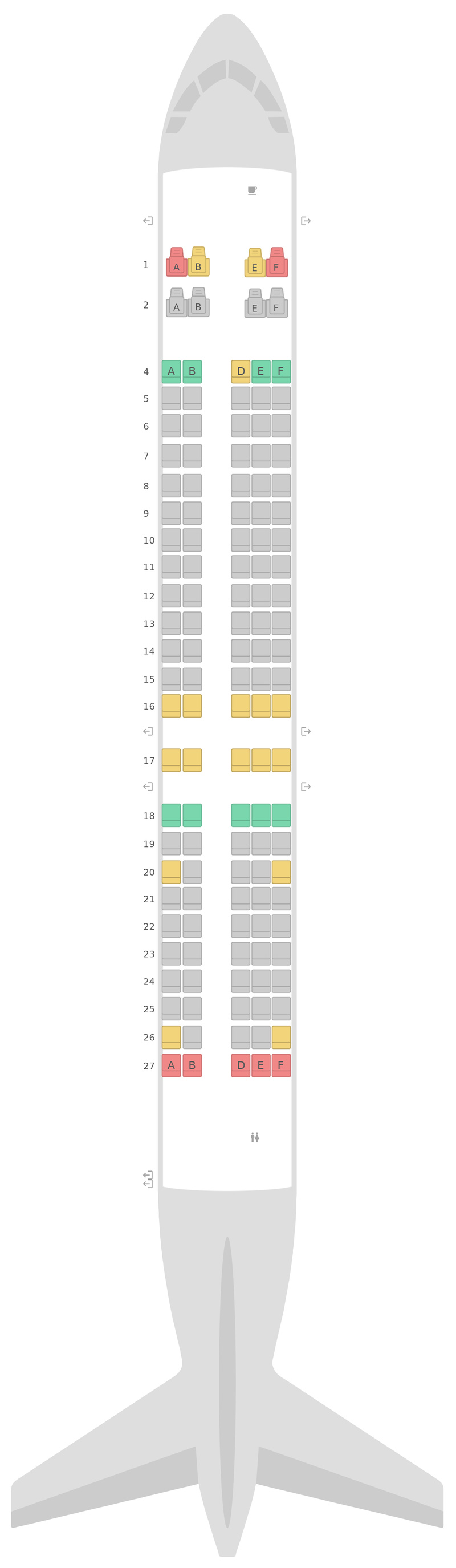 Seat Map Hawaiian Airlines Boeing 717-200